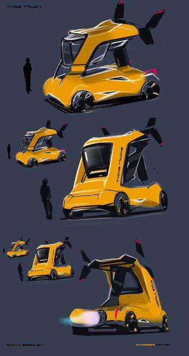 My kind of car design sketch...lovely stuff!