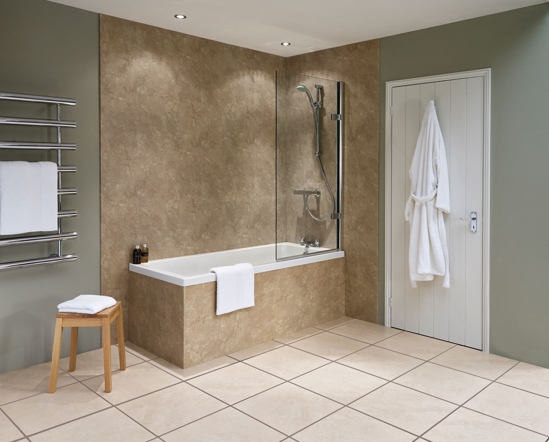 Nuance Laminate Panelling Is An Ideal Alternative To Tiling There Are No Grout Lines To Scrub At And Bathroom Shower Panels Shower Wall Panels Shower Panels