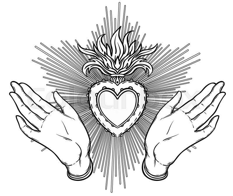 palm eye Google Search Sacred heart tattoos, Sacred