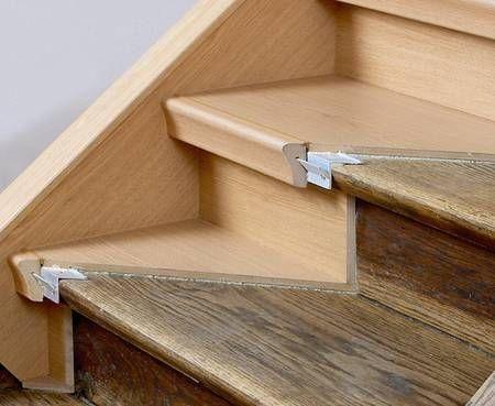 alte stufen renovieren laminat auf treppen verlegen diy and crafts pinterest. Black Bedroom Furniture Sets. Home Design Ideas