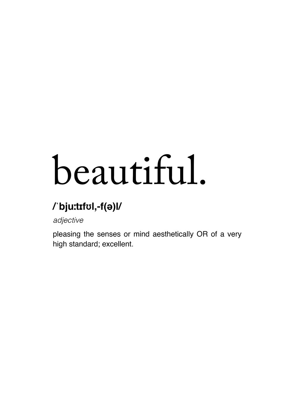 Poster - Definition Of Beautiful