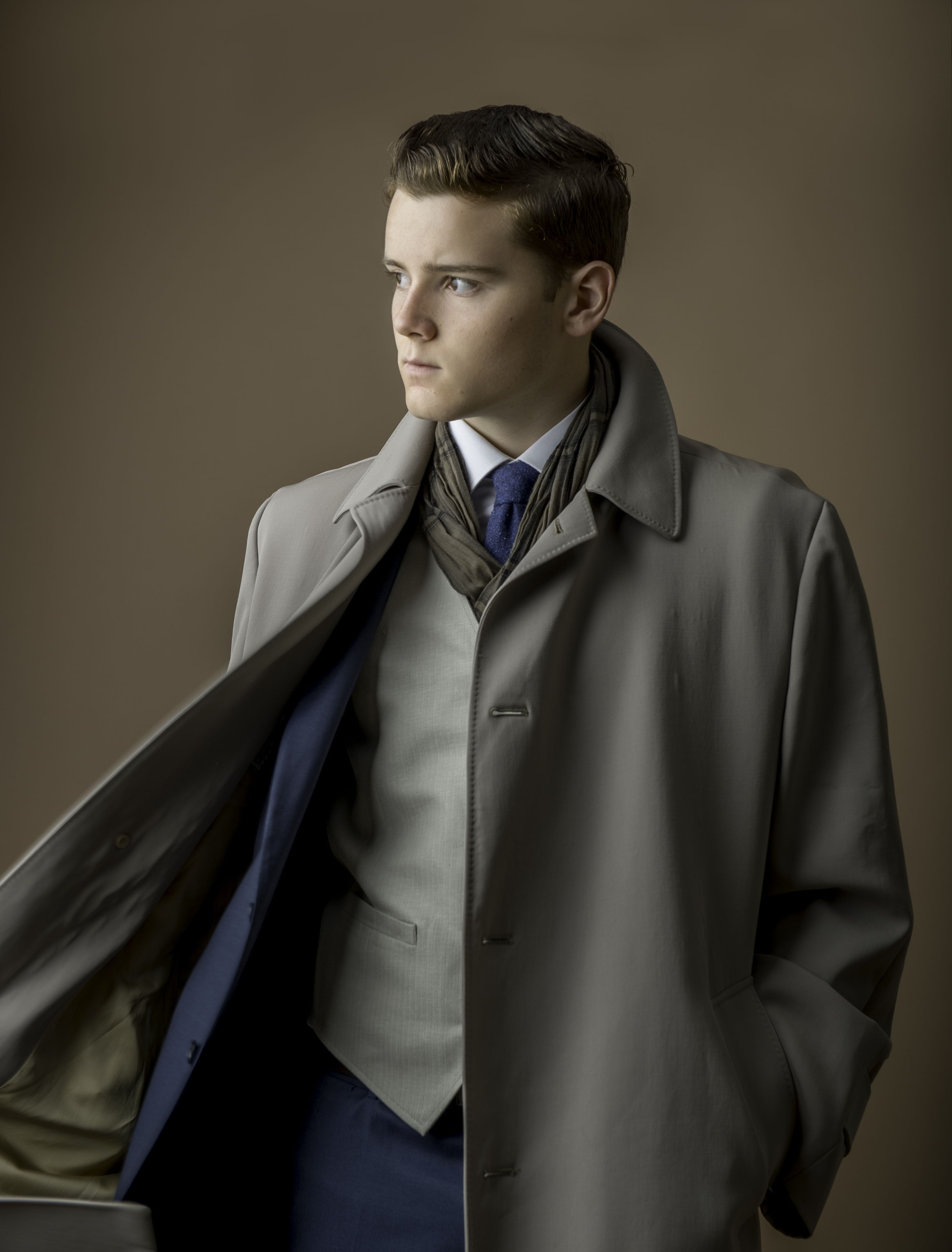mans fashion young man teen topaz suit handsome guy