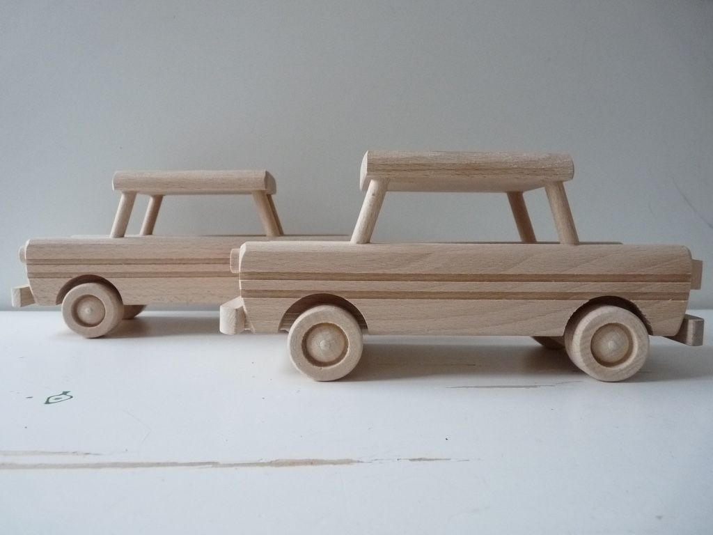 Toys car image  Wooden toy car Wooden push toy Baby and toddler gift Unpainted