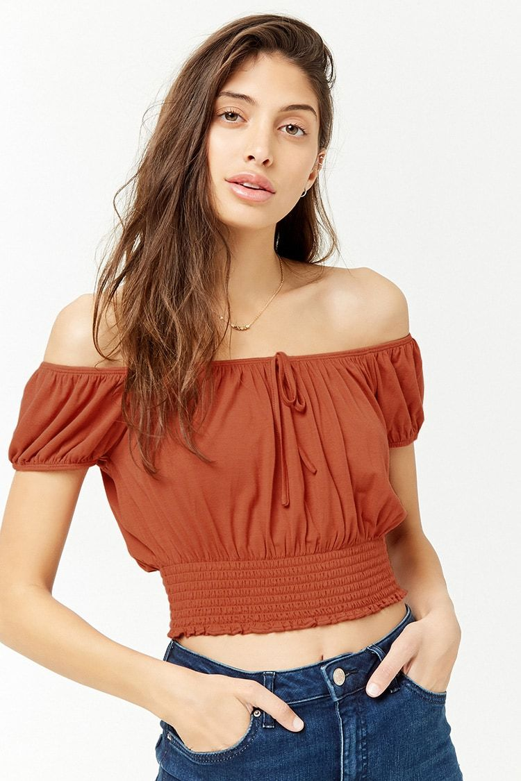 ed97f3f86345c Product Name Cropped Off-the-Shoulder Peasant Top