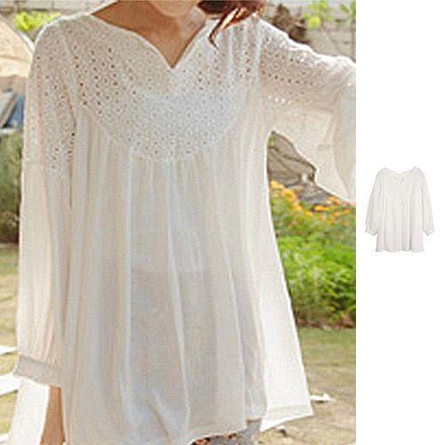 white peasant blouses for women | ... Peasant Women Ladies Boho ...