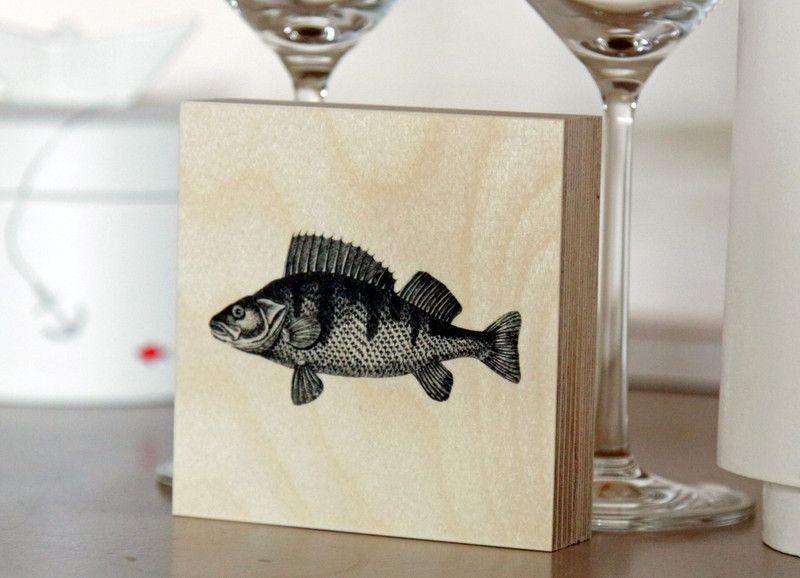 Deko-Objekte - Fisch // Holzbild - ein Designerstück von PIET-und-ERNA bei DaWanda