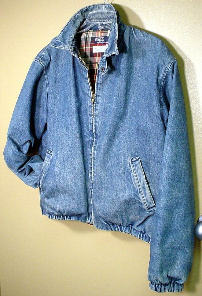 Romantic Vtg Lauren Ralph Lauren Denim Trucker Jean Jacket Pm Petite Medium Over-sized Coats, Jackets & Vests