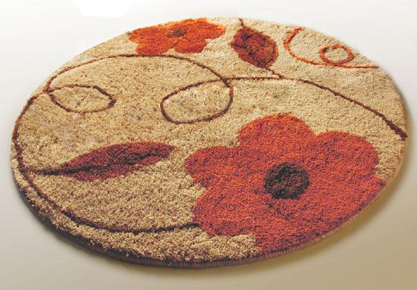 decorative bath rugs | round flower bath rug ~ decorative area