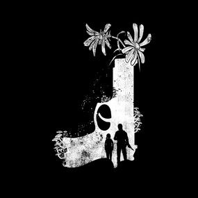 Ellie and Joel Black and White Video Game Poster Last of Us 24 x 36 inches