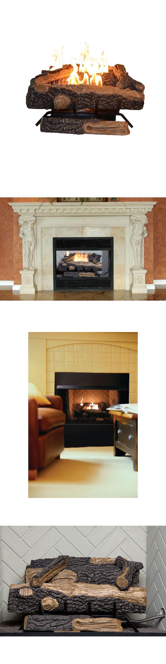 Decorative Logs Stone and Glass 38220: Gas Fireplace Logs Natural ...