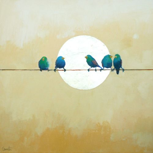 birds on a wire... I've thought of doing this before. #プレゼント