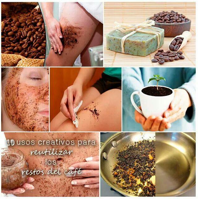 10 usos con el café.  www.labiologia.com/10-usos-creativos-para-los-restos-del-cafe/