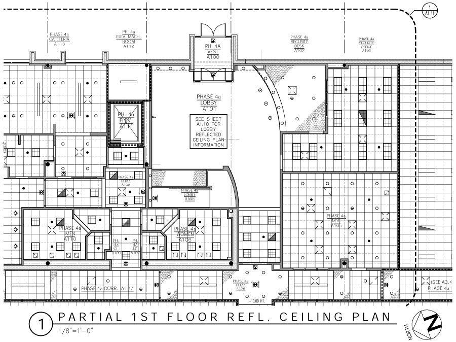 architectural reflected ceiling plan