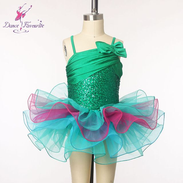New arrival of Child dance costume green sequin dress for ballet dancing  kids Jazz and Tap dance show costume leotard dress 1801 4a7ce4443291