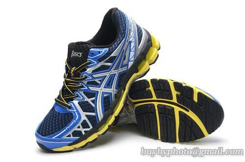 Top Layer Men's Asics GEL-KAYANO 20 Running Shoes Sneaker Blue White Yellow|only US$95.00 - follow me to pick up couopons.