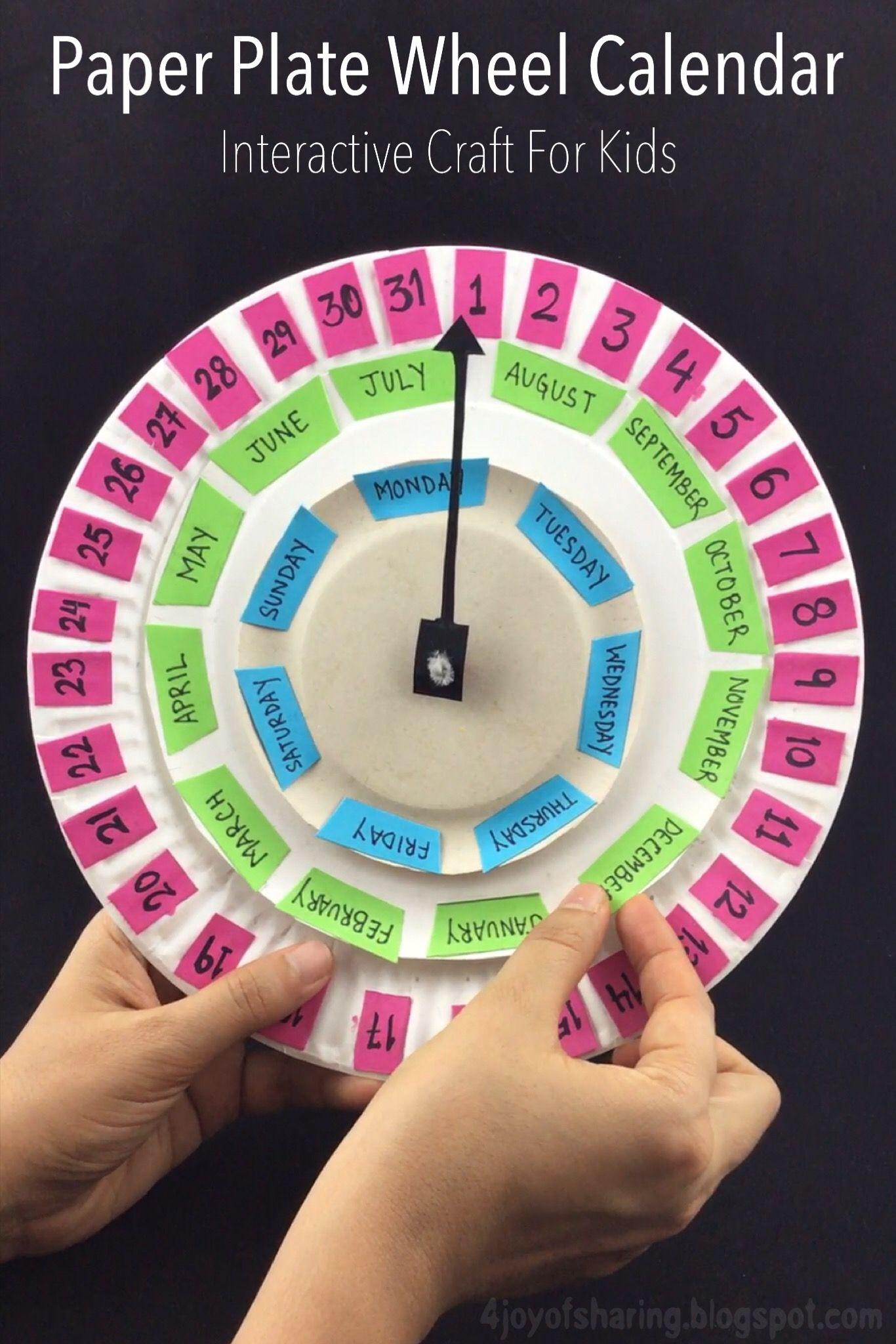 Paper Plate Wheel Calendar