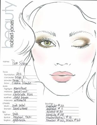 makeup face template - Google Search | Make-Up Looks ...