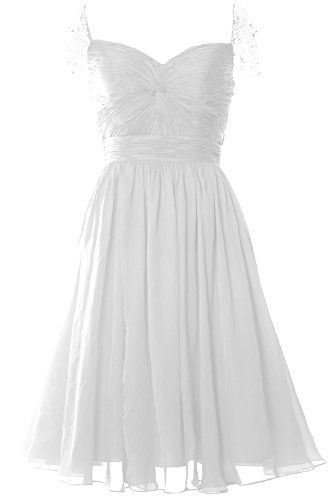 MACloth Women Cap Sleeve Short Ball Gown Evening Formal Prom Dress Wedding Party 24w White * Want to know more, click on the image.