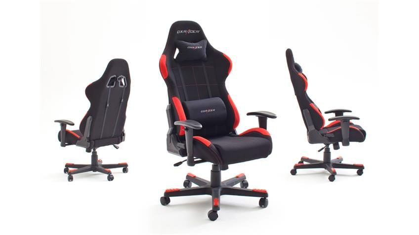 Racing Chefsessel Rot Bürostuhl Drehstuhl Bürosessel Gaming Schreibtischstuhl