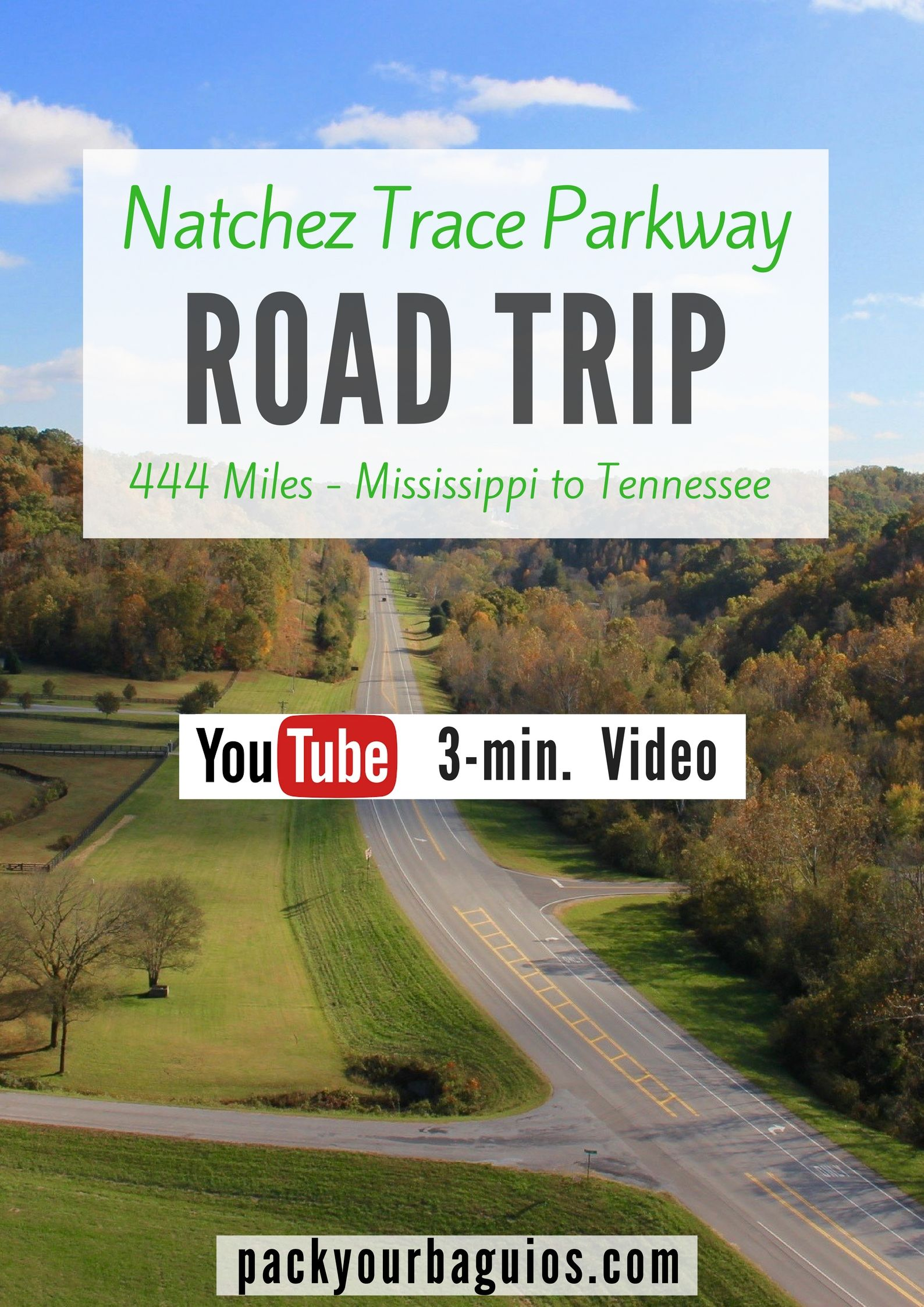 Natchez Trace Parkway Road Trip Usa Road Trip Mississippi Travel Tennessee Travel Youtube Video Pack Y Road Trip Usa Mississippi Travel Natchez Trace