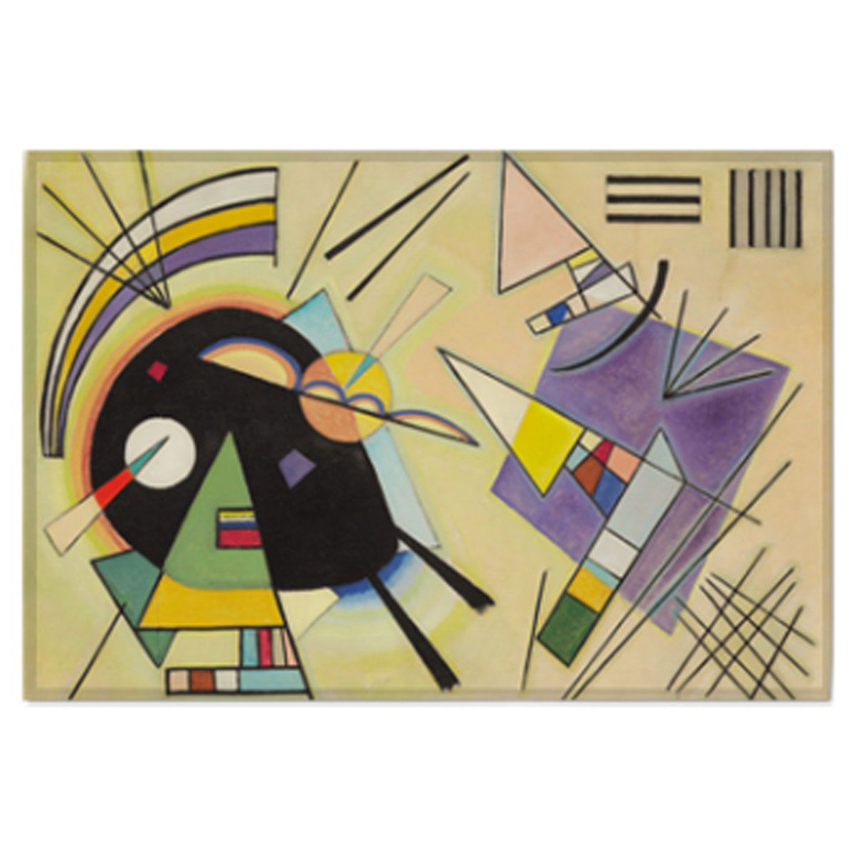 Fabric Prints Poster Black And Violet Wassily Kandinsky Painting ...