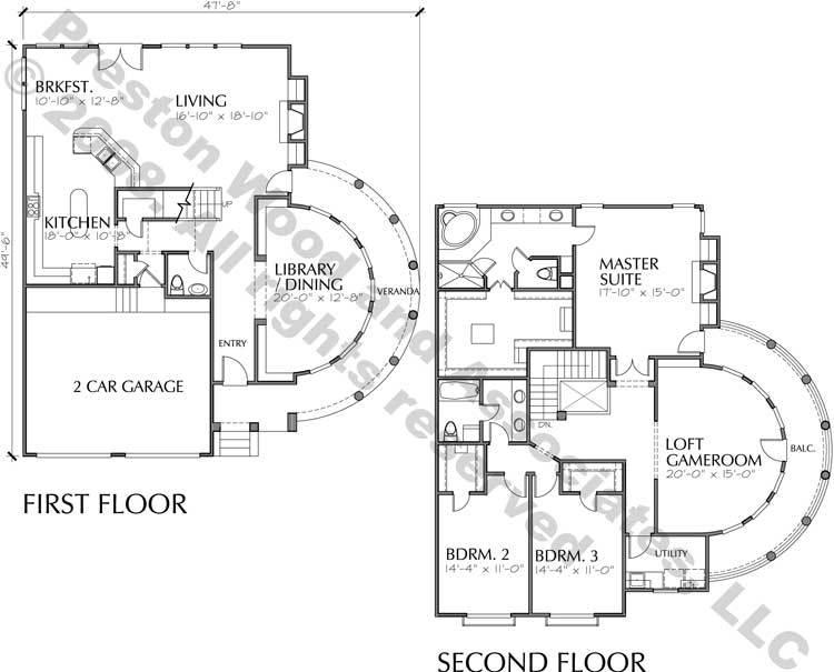 Best Patio House Plans, Custom Built Home Blueprints