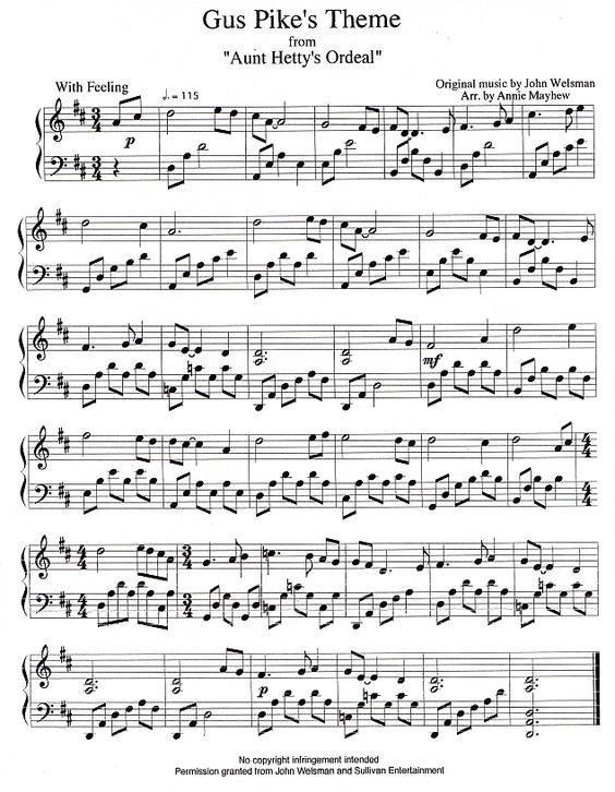 anne of green gables theme song piano sheet music free