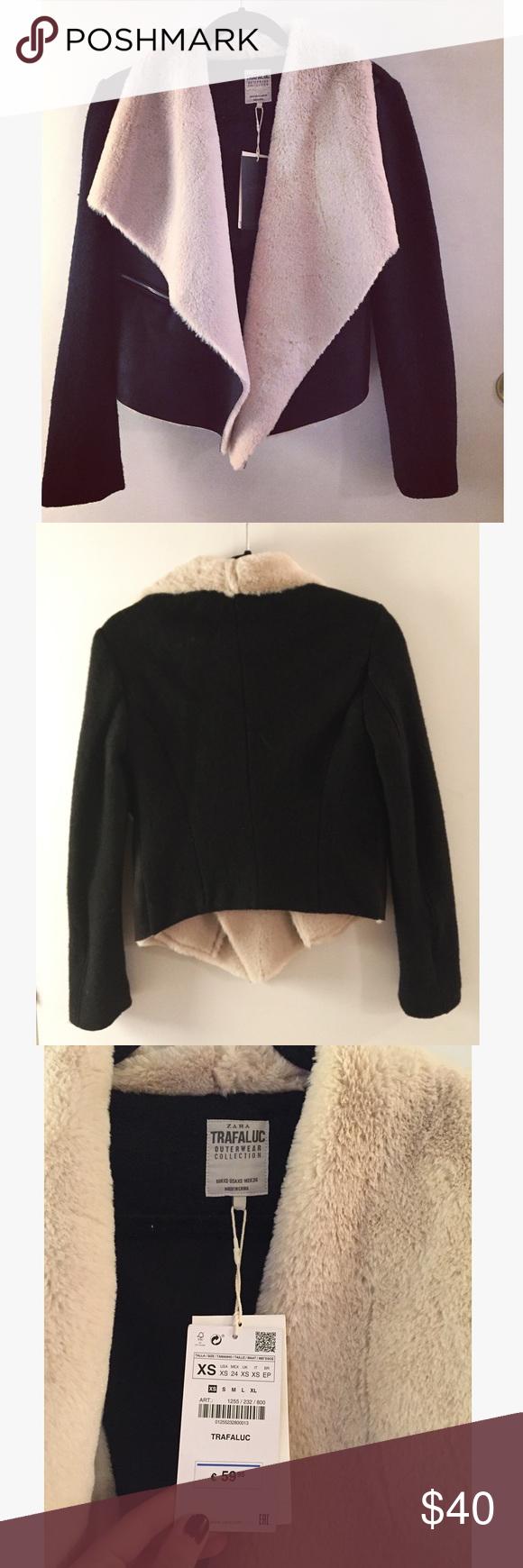 Zara Faux Fur jacket Zara winter faux fur jacket. Zara Jackets & Coats