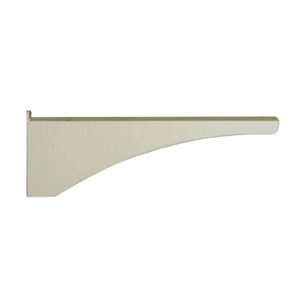 Decorative Aluminum Post Support Bracket in Sand, Beige/Bisque