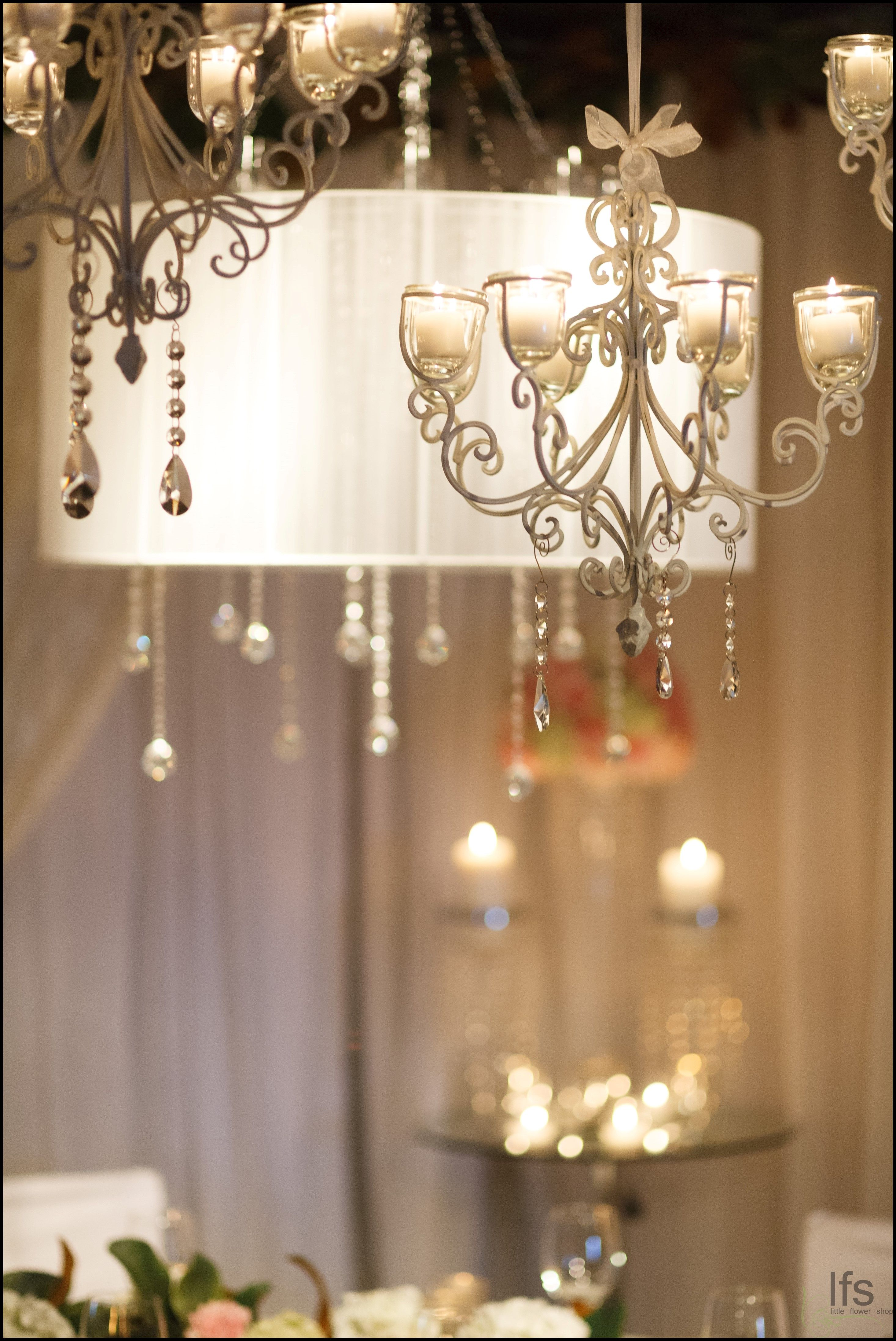 Chandeliers add a touch of detail and sparkle to weddings