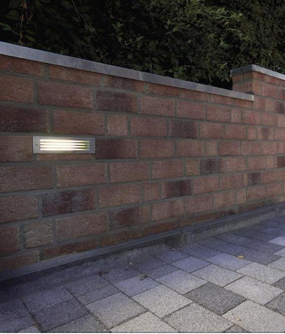 Smart Steel Brick Light With Grill Fascia Brick Brick Wall