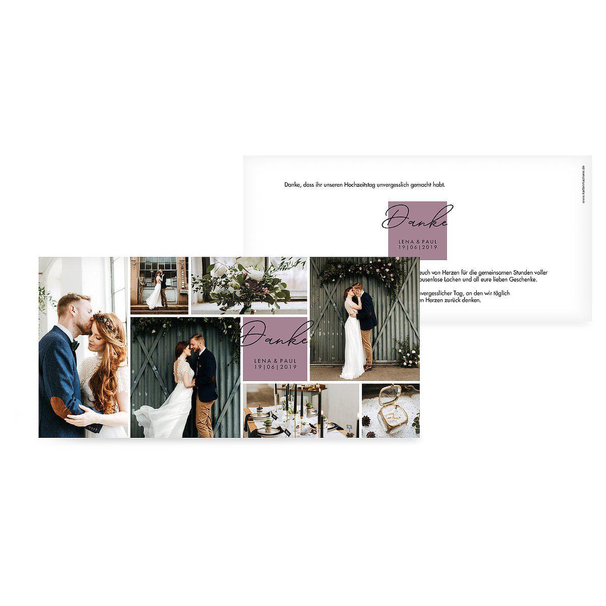 """Dankeskarte Hochzeit """"Lasting Memories"""""""