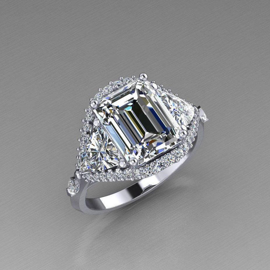 Pin On Emerald Cut Diamonds Settings