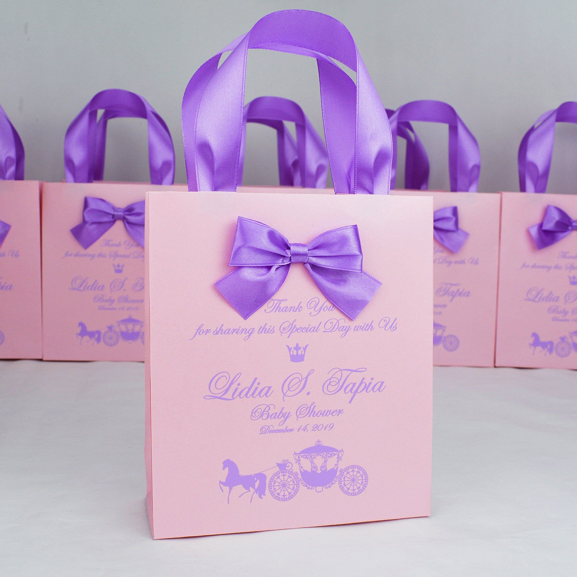 20 baby shower gift bags thank your bag with satin ribbon