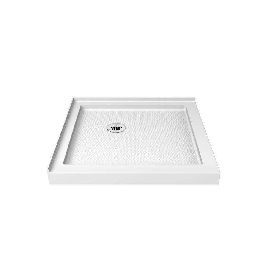 Dreamline Slimline 32 In L X 32 In W White Acrylic Square Corner