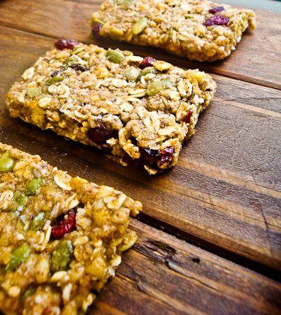 No-Bake Trail Mix Granola Bars (gluten free)