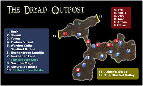 1 The Dryad Outpost Maps Dungeon Siege Ii Broken World Game Guide And Walkthrough Game Guide Dungeon World