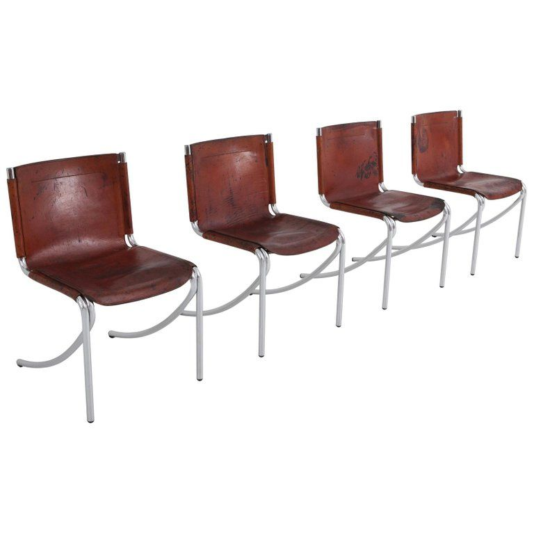 Miraculous Giotto Stoppino Patinated Red Leather And Chrome Vintage Camellatalisay Diy Chair Ideas Camellatalisaycom