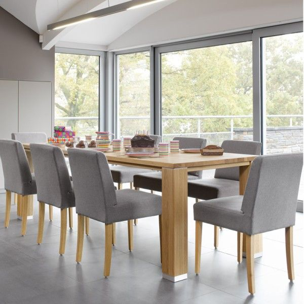 Table de salle manger moderne en bois brisbane mobitec - Table de salle a manger en bois ...