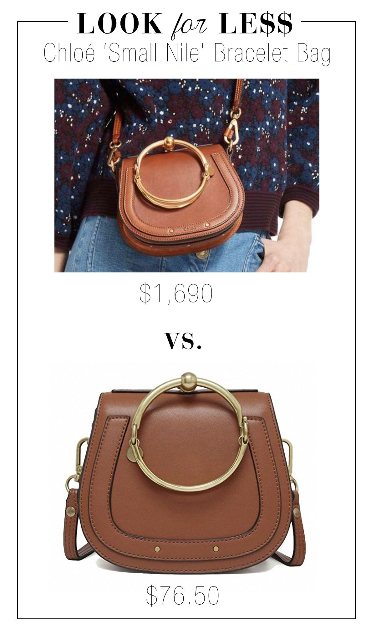 7d00841b60 Look for Less: Chloe 'Small Nile' Bracelet Bag | The Look for Less ...