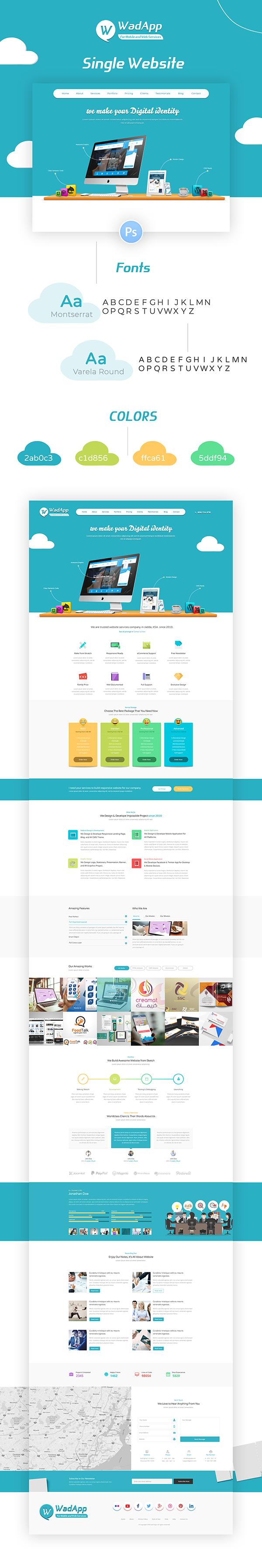 Company Profile Website Landing Page Profile Website Website Fonts Website Template Design