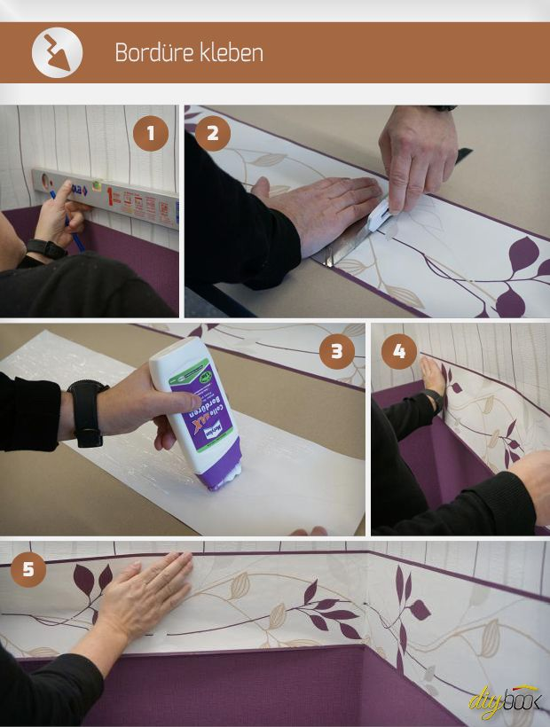 Bordure Kleben Tapezieren Malerarbeiten Und Tapeten Borduren