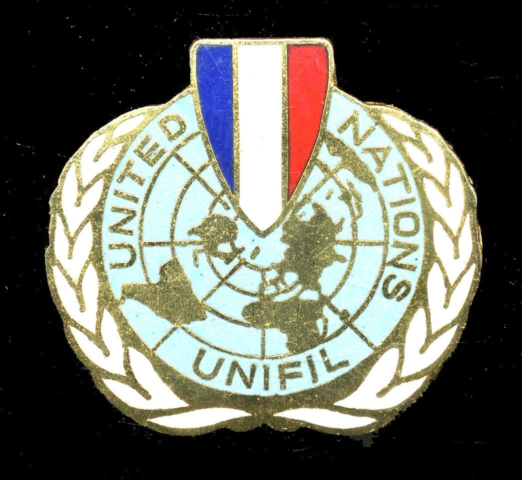 UNIFIL beret badge for French UN troops in Lebanon