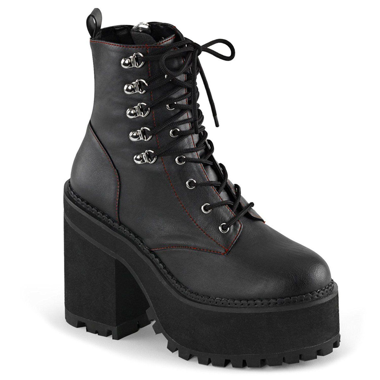 Womens Vegan Leather Boots Black