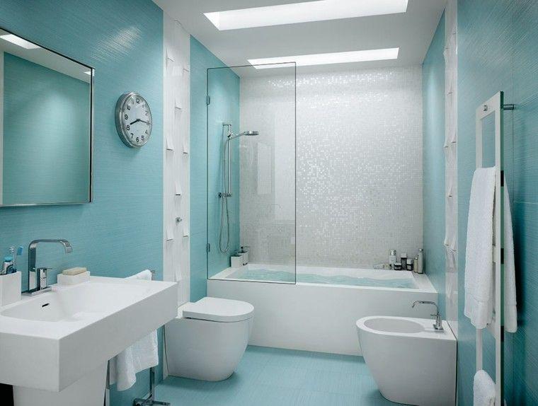 azulejos para baos de color celeste