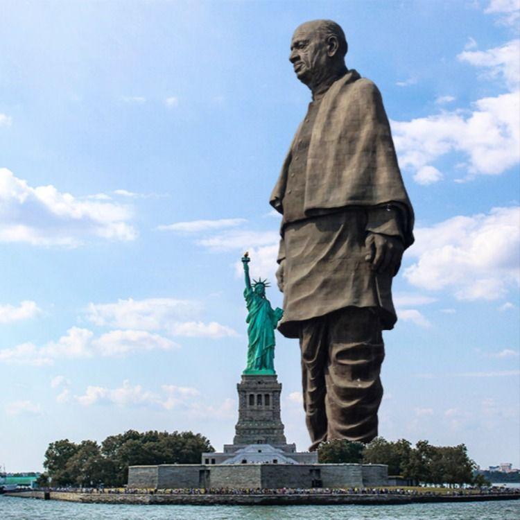 世界一高い像 統一の像 は182m みなとみらいに設置してシミュレーションしてみた Statue Of Unity 大仏 像 横浜みなとみらい