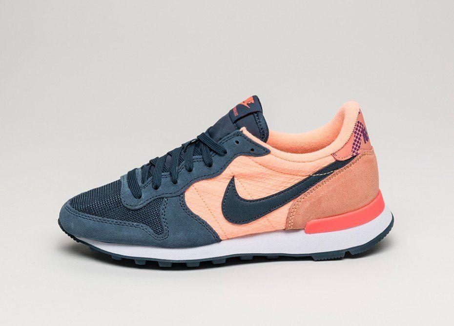 nike sportswear roshe run print - sneaker für damen - blau varadero