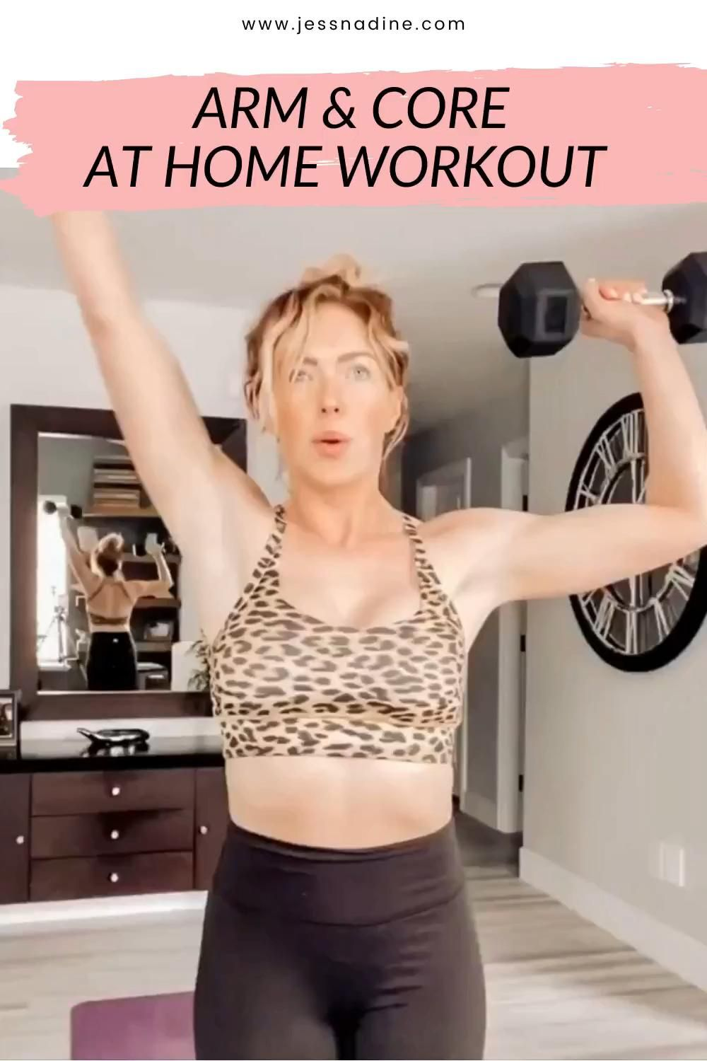 ARM AND CORE AT HOME WORKOUT