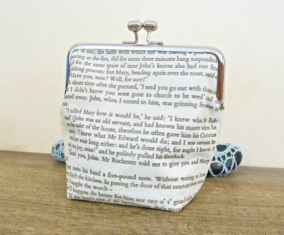 jane eyre quote purse clutch bag reader i married him charlotte rh in pinterest com