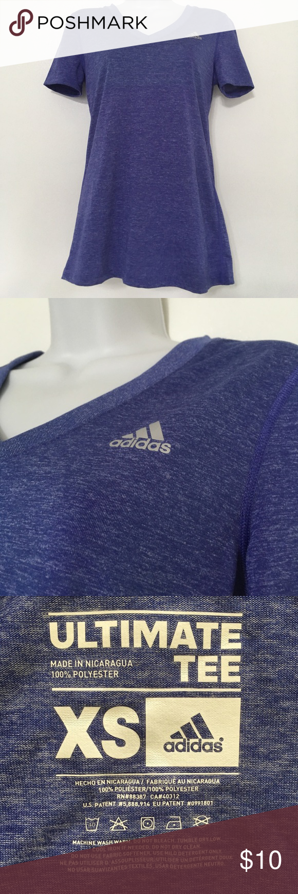 outlet store 56ecf ac0d0 Adidas Dri Fit T Shirts Womens